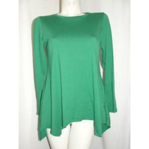 Size S Green Cotton Modal Knit Tunic w/Seam Detail